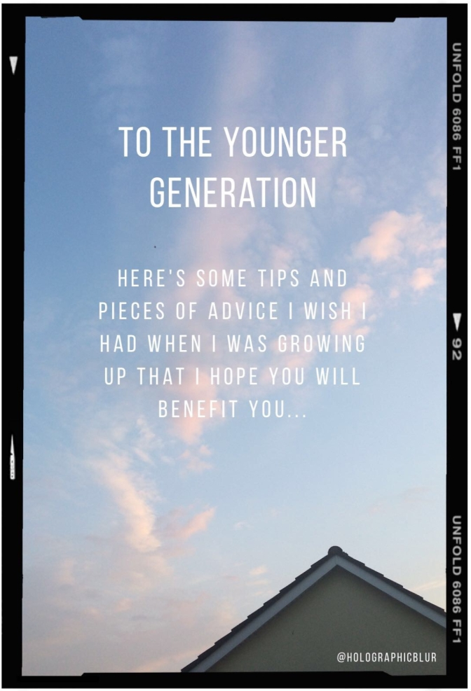 To the younger generation blog post image advertisement.